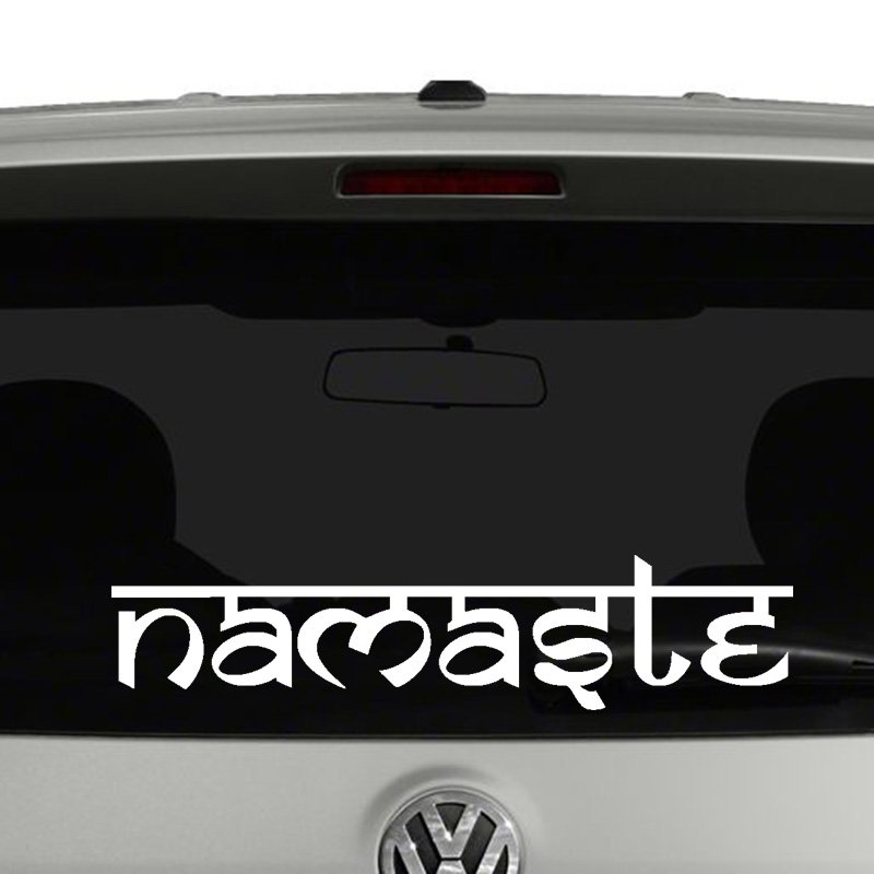 Namaste Sanskrit Style Vinyl Decal Sticker