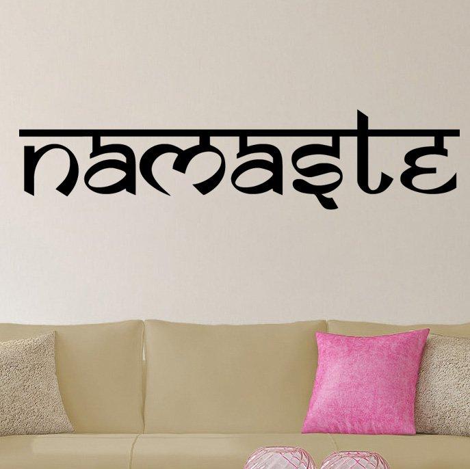 Namaste Sanskrit Style Vinyl Wall Decal