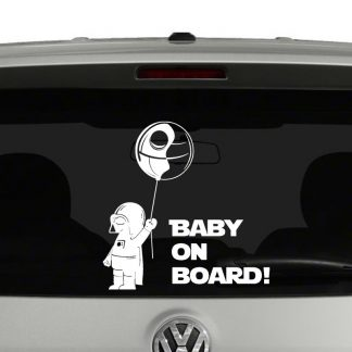 Baby Darth Vader Death Star Ballon Baby On Board Decal Vinyl Decal Sticker