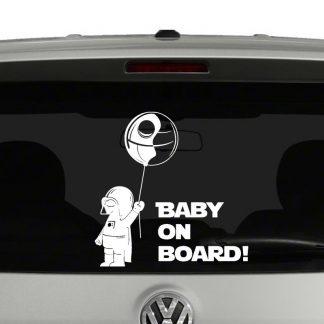 Baby Darth Vader Death Star Ballon Baby On Board Decal Vinyl Decal Sticker