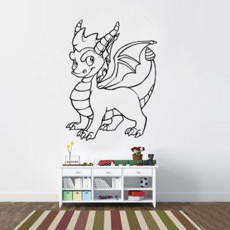Spyro the Dragon Skylander Inspired Vinyl Wall Decal Sticker