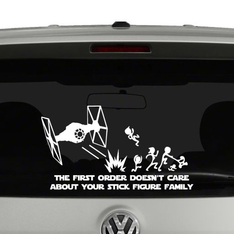 The First Order Doesn't Care About Your Stick Figure Family Vinyl Decal