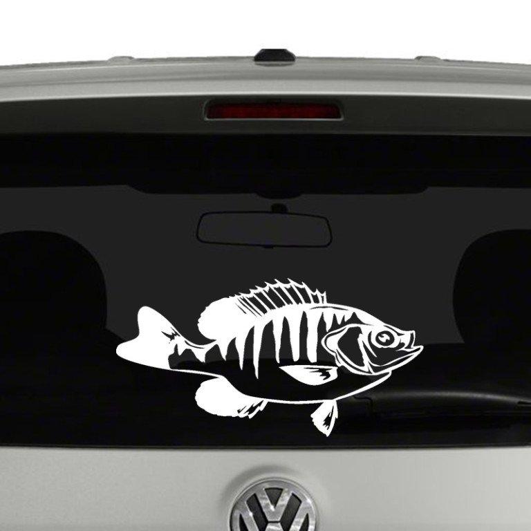 Crappie Fish Fishing Vinyl Decal Sticker Car Window