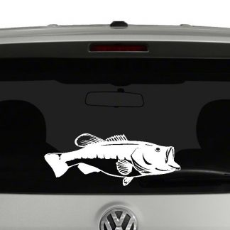Bass Fish Vinyl Decal Sticker Car Window