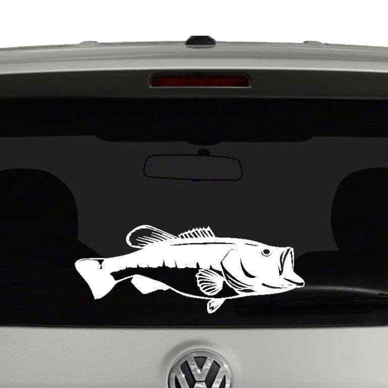 Bass Fish Vinyl Decal Sticker Car Window