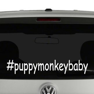 Puppy Monkey Baby Hashtag Vinyl Decal Sticker