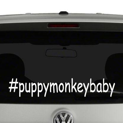 Puppy Monkey Baby Hashtag Vinyl Decal Sticker