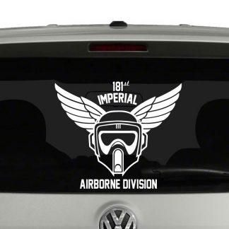 Star Wars Inspired Biker Scout Airborne Vinyl Decal Sticker Car Window