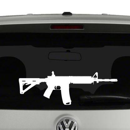 AR15 Rifle Silhouette Vinyl Decal Sticker Car Window