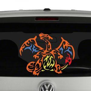 Charizard Tribal 4 Color Vinyl Decal Sticker Car