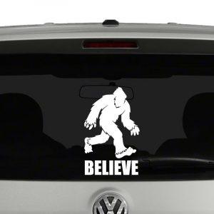 Bigfoot Believe Vinyl Decal Sticker