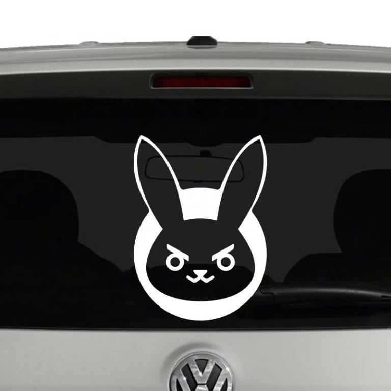 Overwatch D.Va Bunny Vinyl Decal Sticker