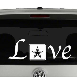 Love with Army Logo Vinyl Decal Sticker