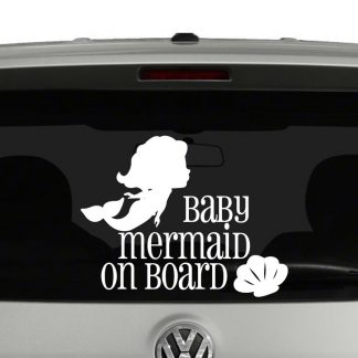 Baby Mermaid On Board Vinyl Decal Sticker