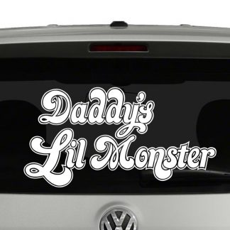 Daddy's Lil Monster Harley Quinn Inspired Vinyl Decal Sticker Car