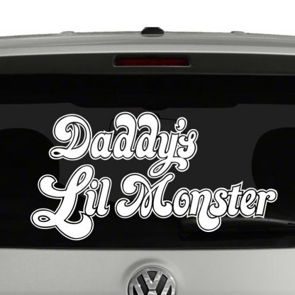 Daddy's Lil Monster Harley Quinn Inspired Vinyl Decal Sticker Car