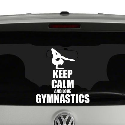 Keep Calm and Love Gymnastics Vinyl Decal Sticker