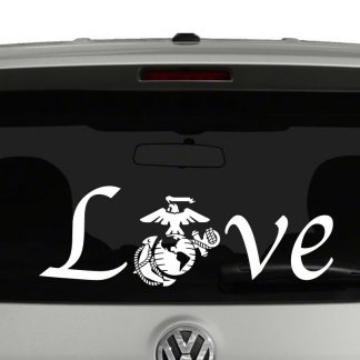Love with Marine Logo Vinyl Decal Sticker