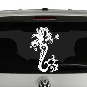 Mermaid with Fish Vinyl Decal Sticker