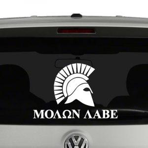 Molon Labe Greek Spartan Helmet 2nd Amendment Vinyl Decal Sticker