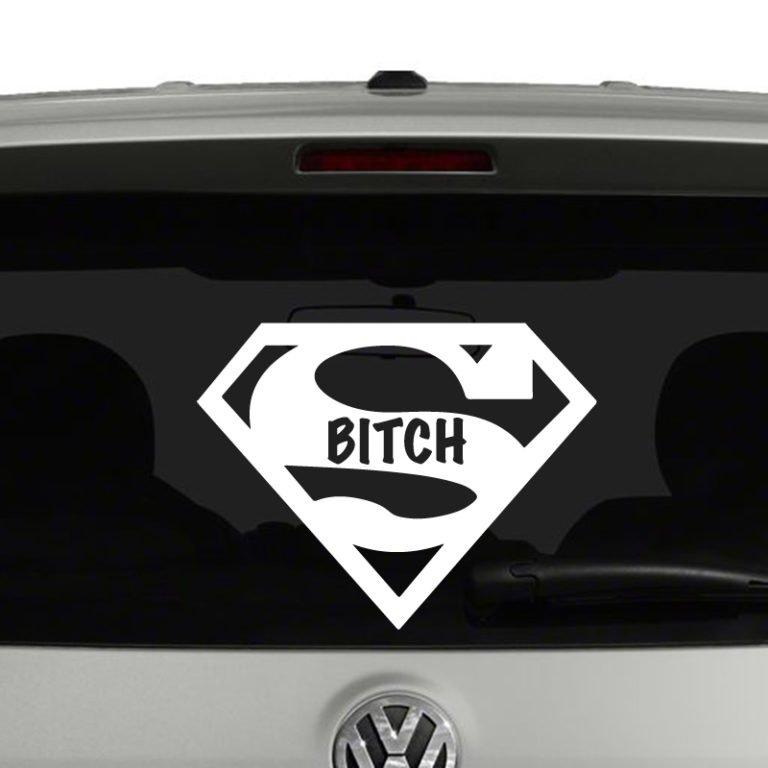 Super Bitch Vinyl Decal Sticker