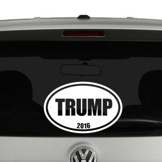 Trump 2016 Oval Euro Style Vinyl Decal Sticker