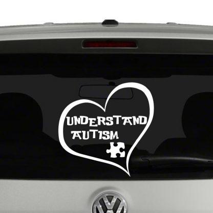 Understand Autism Heart Vinyl Decal Sticker