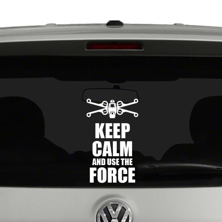 Keep Calm and Use The Force Vinyl Decal Sticker