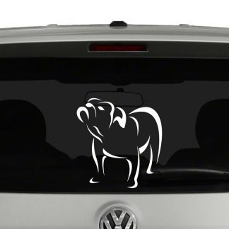Bulldog Outline Line Art Vinyl Decal Sticker