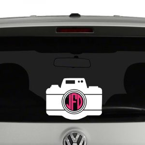 Camera DSLR Silhouette Monogram Vinyl Decal Sticker