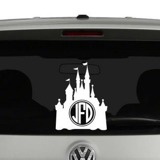 Disney Castle Inspired Monogram Vinyl Decal Sticker