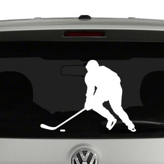 Hockey Player Silhouette 1 Vinyl Decal Sticker