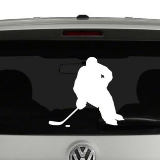 Hockey Player Silhouette 2 Vinyl Decal Sticker