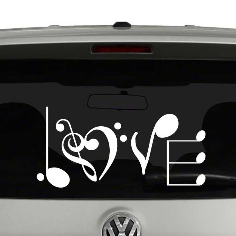 Love Musical Notes Music Notes Vinyl Decal Sticker