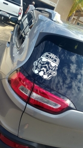 Sugar Skull Style Stormtrooper Star Wars Inspired Vinyl Decal Sticker