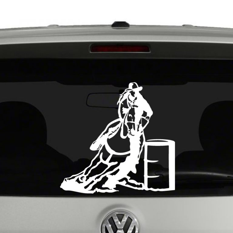 Cowgirl Horse Barrel Racing Vinyl Decal Sticker