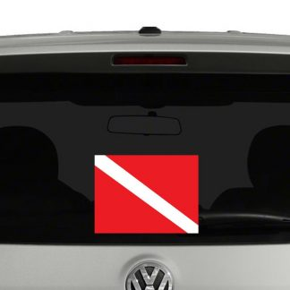 Diver Down Scuba Diving Flag Vinyl Decal Sticker
