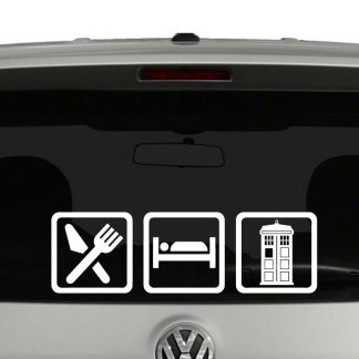 Eat Sleep Doctor Who Tardis Vinyl Decal Sticker