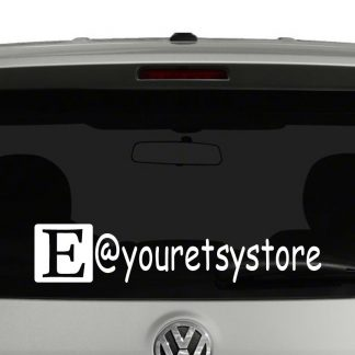 Etsy Icon Account Tag Vinyl Decal Sticker Social Media