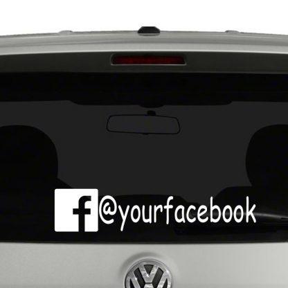 Facebook Icon Account Tag Vinyl Decal Sticker Social Media