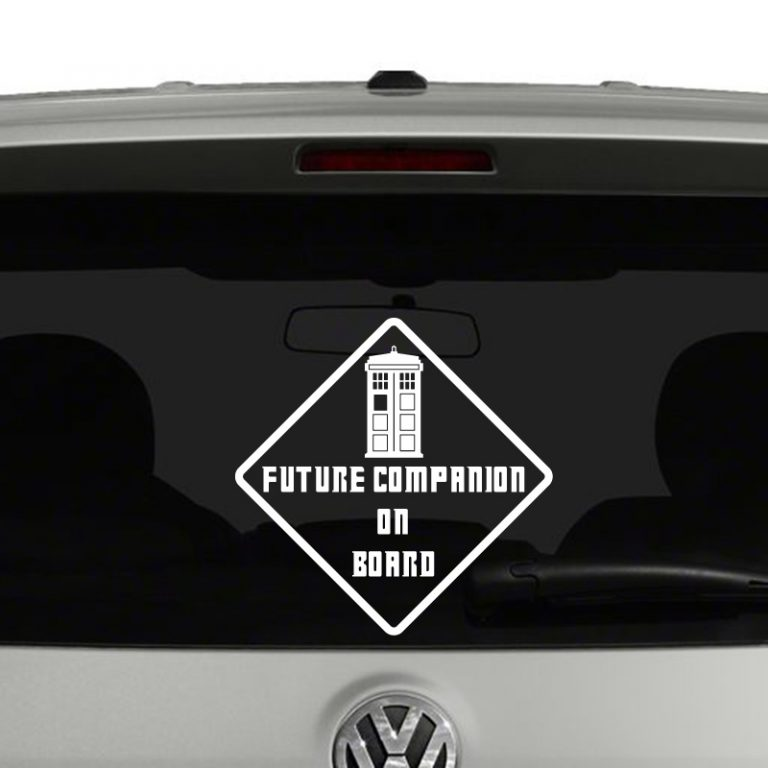 Doctor Who Inspired Future Companion On Board Vinyl Decal Sticker