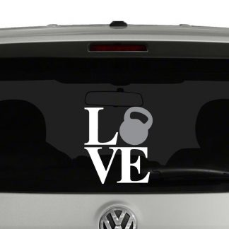 Love Kettlebell Vinyl Decal Sticker