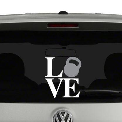 Love Kettlebell Vinyl Decal Sticker