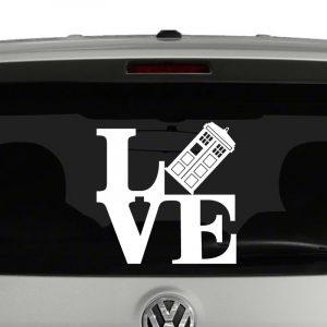 Love Doctor Who Tardis Vinyl Decal Sticker