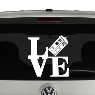 Love Doctor Who Tardis Vinyl Decal Sticker