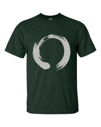 Enso Circle Brushstroke Buddhism Short Sleeve T-Shirt