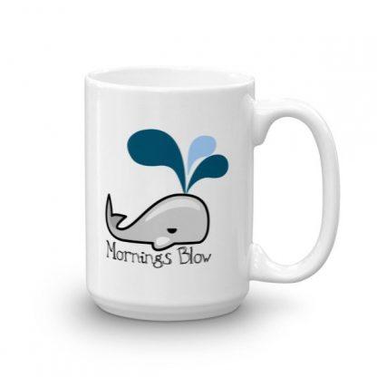 Mornings Blow Whale Ceramic Mug