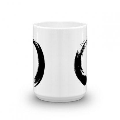 Enso Circle Brushstroke Buddhism Ceramic Mug
