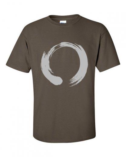 Enso Circle Brushstroke Buddhism Short Sleeve T-Shirt