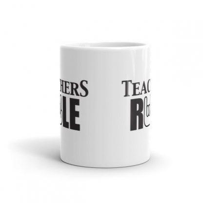 Teachers Run Rock On Hand Ceramic Mug